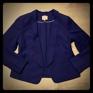 LOFT Blue Open Front Blazer Size 14 Petite